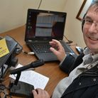 Jim Bacon G3YLA at the Caister Radio Station GB0CMS for International Marconi Day. Picture: Steve Ni