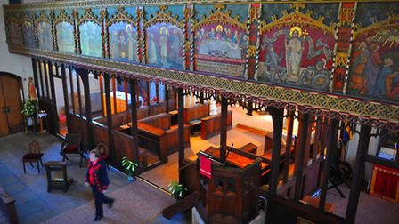 Open Day at St Mark's Church, Hall Road, Norwich where visitors were able to view the Rood Screen in