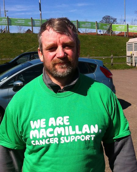 Neil Saunders who walked 18 miles as part of the 2013 Bure Valley Railway Walk in aid of Macmillan C