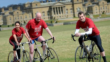 Launch of Ride Open Skies event at Holkham Hall - From left, NNDC Chief Exec Shelia Oxtoby, NNDC Lea