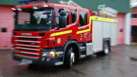 Firefighters tackled a fire in Lowestoft.