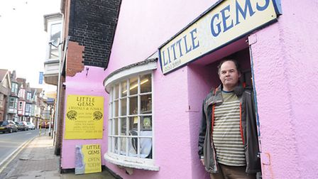 Danny Hickling from Little Gems, who was angry about car parking problems in Cromer on Bank Holiday