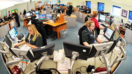 East of England ambulance control centre in Norwich. Photo: Bill Smith