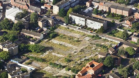 The cleared site of Greyhound Opening, Norwich. Photo: Mike Page