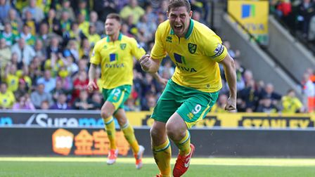 Grant Holt celebrates his equaliser from the penalty spot. Picture: Paul Chesterton / Focus Images
