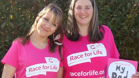 Melissa Smith (rt) is running Race for Life with her sister in law Melissa Carson in memory of her d