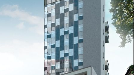 An artist's impression of what the new Westlegate Tower could look like