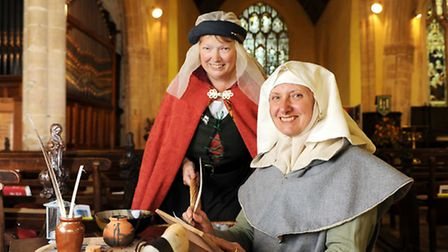 Lucy Care (left) and Diana George, from Paston Heritage Society, at a previous event.Picture: James
