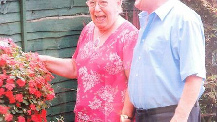 Isabel Carter with her husband David on their Golden Wedding Anniversary. Isabel died in December 20