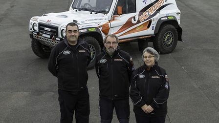 Race2Recovery team - (left to right) Andrew Taylor, Dave Reeve, Debbie Harrison.