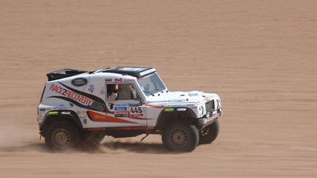 One of the team's vehicles competing in the rally. Photo: Gaucho Productions