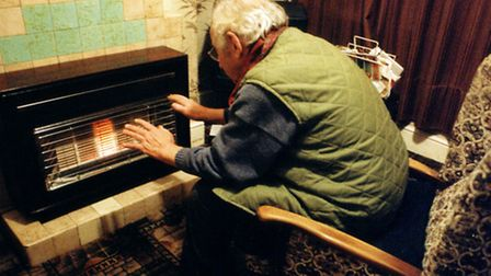 Pensioners / oap/ old people keeping warm through the Winter. heating / bills/ electric / gas / fire