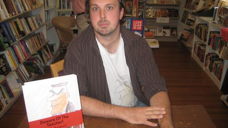 Norwich-born author Jason Bardwell is helping a project to re-supply books to US libraries damaged b