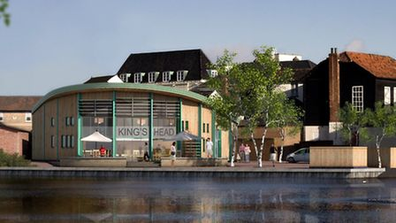 Artists impression of the new JD Wetherspoon pub at Kings Head Yard, Diss