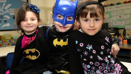 Children from the younger years at Littleham Primary School enjoyed a Super-Hero day at school this