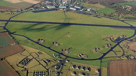 A bird's eye view of the former RAF Coltishall air base.Picture: Mike Page.