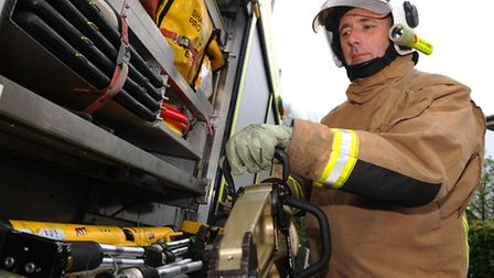 Mark Wilson, Retained Watch Manager for Norfolk Fire and Rescue Service at Attleborough. Photograph