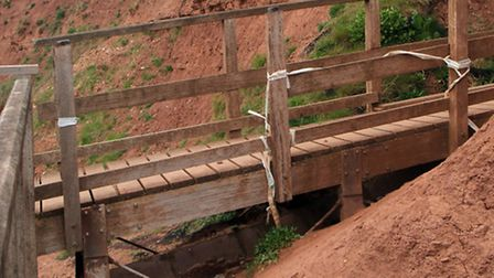 Damaged steps at Orcombe Point leading to Rodney Bay. Picture by Alex Walton. Ref exe 1625-19-13AW