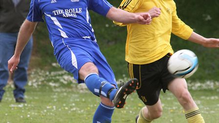East Budleigh Reserves rounded off the season with a game against Amory Argyle on Saturday. Photo by