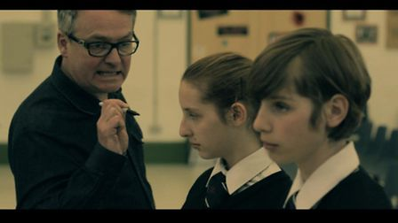 Charlie Higson with Ellen and Cormac O'Mahony in a scene from Appearance.