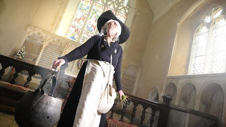 Paston Heritage Society open day at Paston Church and hall. Josephine Marston, a member of Paston He
