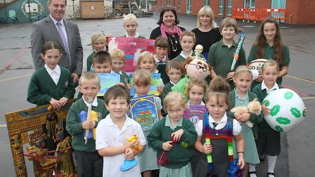 Staff and pupils at Withycombe primary school are celebrating their latest OFSTED success. Children