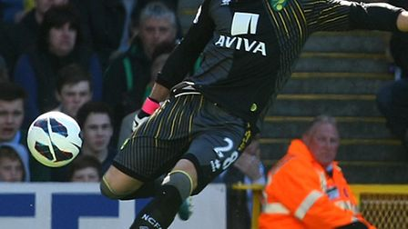 Norwich keeper Mark Bunn is the man in possession right now wtih John Ruddy working his way back to