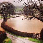 Fenny Bridges, which is near the site of the Honiton show ground, failed to escape the heavy rainfal