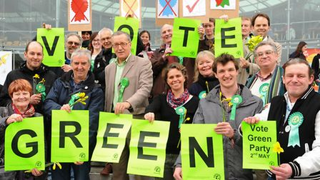 The launch of the Green Party's manifesto at the Forum. Picture: Denise Bradley