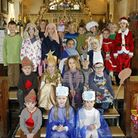 Otterton primary school's nativity play in the church. Photo by Terry Ife ref exe 9563-50-13TI To or