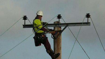 UK Power Networks staff worked to remove overhead power lines from Dersingham Bog in a project co-or