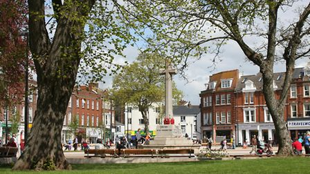A view of the Strand Gardens in Exmouth. Photo by Simon Horn. Ref exe 5026-16-11SH