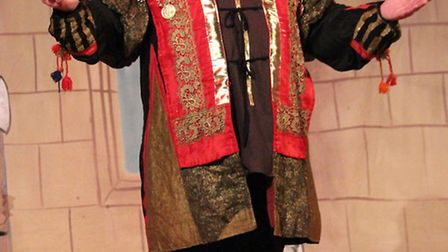 """Roger Simmonds plays the Sheriff of Nottingham in Budleigh Buddies' recent panto """"Robin Hood"""". Pictu"""
