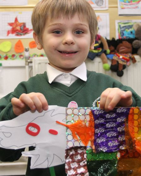 Reception children at Withycombe Raleigh primary school have enjoyed making colourful dragons in cel