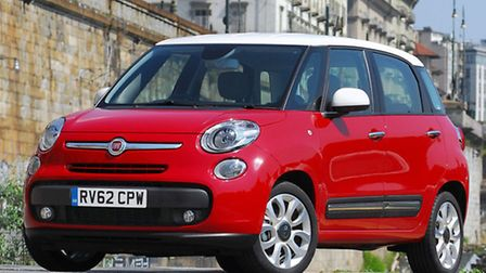 Growing up: Fiat 500L has the stylish appeal of the smaller 500 in a family-friendly multi-purpose v