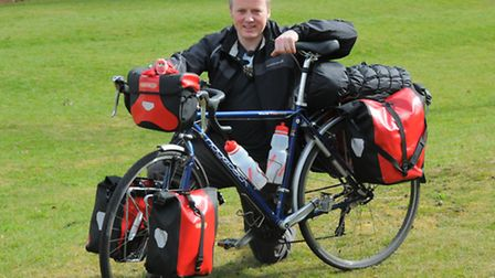 Norwich man James Harvey is setting off to complete a 4,500-mile cycle tour around the coast of Brit