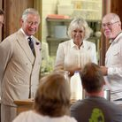 Ref mha royal visit. Duke and Duchess of Cornwall at River Cottage in Devon.