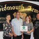 The Sidmouth Arms in Upottery joins Hospiscare's Tub Club.