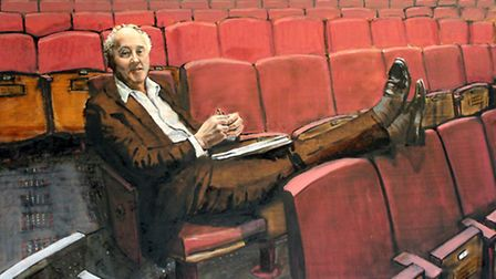 Artist Will Teather's portrait of Norwich Theatre Royal chief executive Peter Wilson.