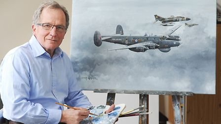Artist Mike Rondot is taking part in an appeal to get a Shackleton aircraft back in the skies. Pictu