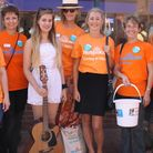 Holly Morwenna is pictured with the Hospiscare fundraising team in Honiton.