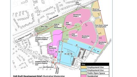 The draft development brief for the 18-hectare site at Heath Farm and Hempstead Road. Picture: SUBMI