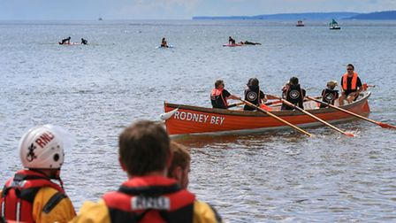 Exmouth RNLIs coffers have been boosted thanks to the towns new local gig rowing club. Exmouth Gig