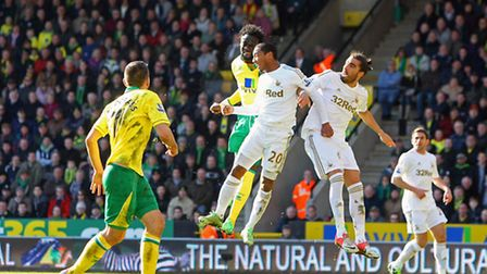 Norwich City's attacking spearhead mirrored Swansea's at Carrow Road.