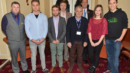 Exmouth Community College students at the Exmouth Chamber of Commerce business breakfast.