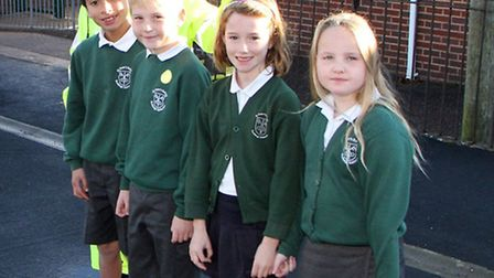 St Peter's Primary School have received a donation to be spent on their school crossing patrol. Geno