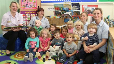 Celebrations at Happy Days Nursery following their good Ofsted report. Ref exe 0050-45-14SH Picture:
