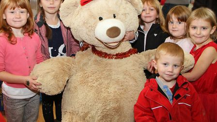 Withycombe Raleigh Playgroup held their Christmas fair at the weekend. A giant teddy was one of the