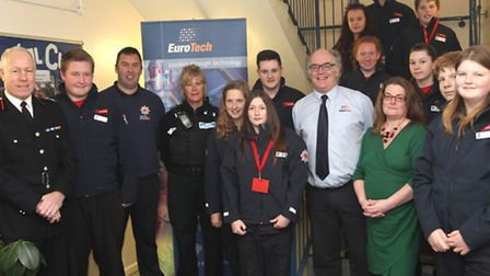 Exmouth College Cadets visited Eurotech this week after the firm has bought each group member a pair