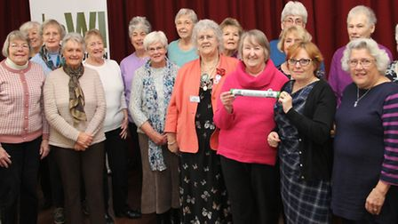 Local WI groups are pictured with their County chairman Alma Blackmore and 2nd vice Angie Williams w